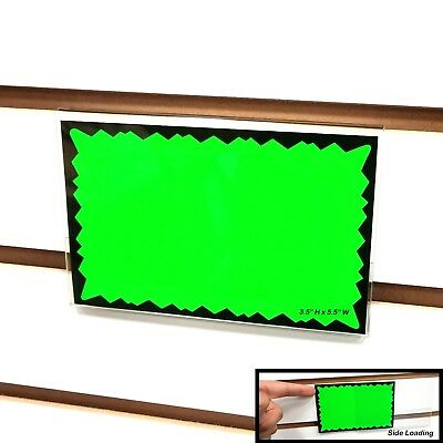"Slatwall Acrylic Sign Holder, Horizontal Landscape, 3.5"" H x 5.5"" W, Wholesale"