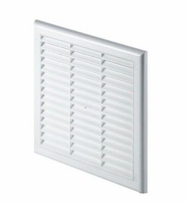 White Air Vent Grille with Adjustable Shutter and Fly Screen (Hit and Miss)