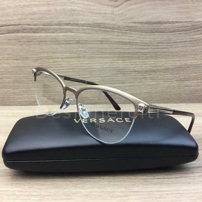 07bee52164da VERSACE VE 1235 Eyeglasses Matte Gold Brown 1375 Authentic 53mm ...