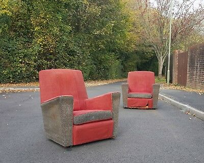 YOU DECIDE Custom Bespoke Accent Pair of Club Chairs Statement Modern Art Deco