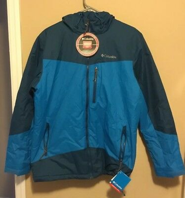 NWT Columbia Winter Slope Thermal Coil Insulated Jacket Coat Blue size M or XXL
