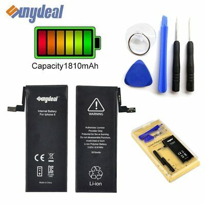 High Capacity 1810mAh Replacement Black Battery for Apple iPhone 6 + Tools