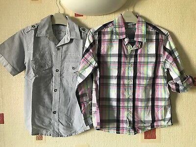 2x Boys Next And George Short Sleeve Shirts Mint Condition Age 5-6