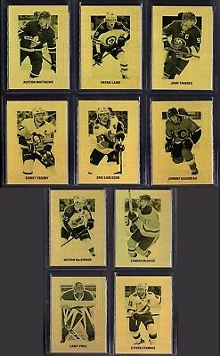 2018-19 UD TIM HORTONS GOLD ETCHINGS COMPLETE 10 CARD INSERT SET LOT New