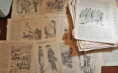 90 Original Antique Topical Engravings Punch Magazine Wholesale Lot All sizes