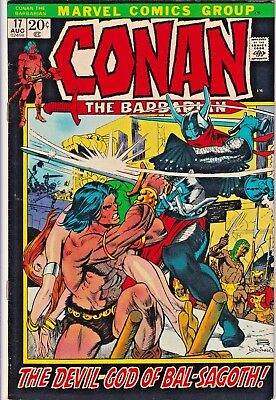 Conan The Barbarian#17 Vf 1972 Marvel Bronze Age Comics