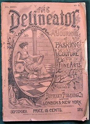 The Delineator orig 1891 Butterick Co Clothing Sewing Pattern Catalog Magazine