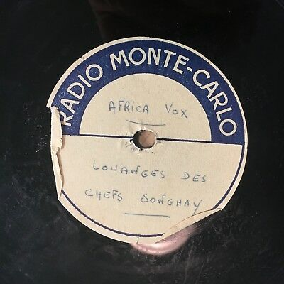 Africa 78 Rpm Acetate ~ Traditional African Ceremony Field Recording ~ Mega Rare