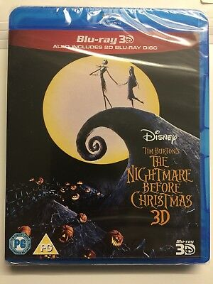 The Nightmare Before Christmas - 2D & 3D Blu-ray 2011 - BRAND NEW SEALED