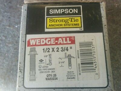 Simpson Wedge-All 1/2 in. x 2-3/4 in. Zinc-Plated Expansion Anchor (25-Pack)