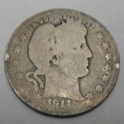 1911 P Barber Quarter   *90% SILVER*   *AG OR BETTER*   **FREE SHIPPING**
