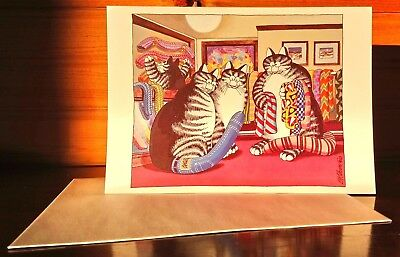 Kliban Cat Collectible Greeting Card with Envelope Tail Covers UNUSED