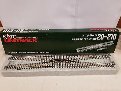 n scale kato unitrack 20 210 double crossover track new $48 95  n scale kato unitrack 20 210 double crossover track new