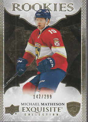 2016-17 Exquisite Collection Gold Rookies #R24 Michael Matheson /299