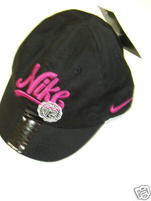 3274d4f82c842 ... promo code nwt girls nike pink black cap hat 2t 3t 4t new baseball  swoosh embroidered ...