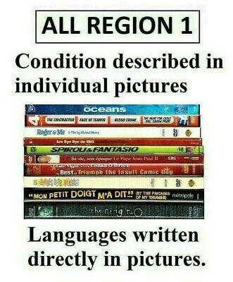 DVD SELECTION Movies All Sold Separately (ALL REGION 1) Film List buyer's pick