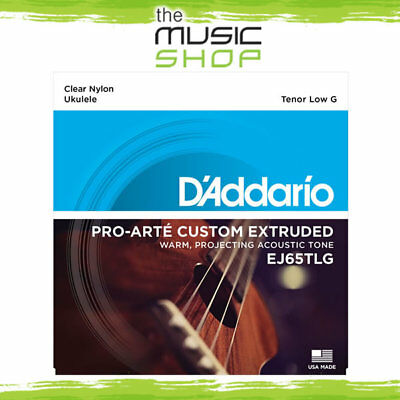 D'Addario Pro-Arté Custom Extruded Ukulele Strings - Tenor Low G - EJ65TLG