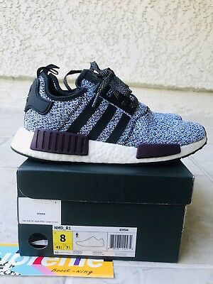 d6b829d4310eb Adidas NMD R1 Champs exclusive Wool Grey Burgundy Black Men s size 8