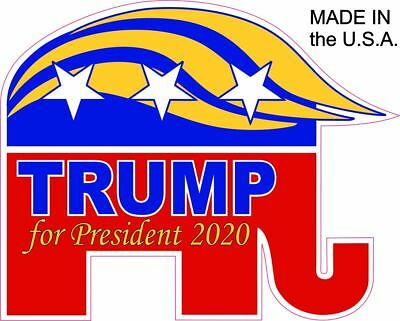 Donald Trump President 2020 GOP ELEPHANT NEW Vinyl Decal Sticker