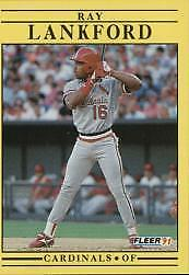 1991 Fleer St. Louis Cardinals Baseball Card #637 Ray Lankford