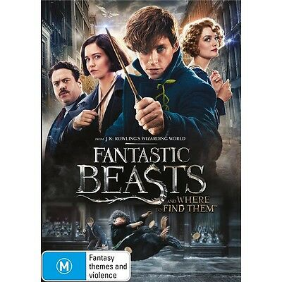 FANTASTIC BEASTS AND WHERE TO FIND THEM-DVD-Eddie Redmayne-Region 4-New Sealed
