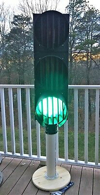"""Functional 12"""" Econolite Poly Traffic Light R/Y/G With Louvered Visors"""