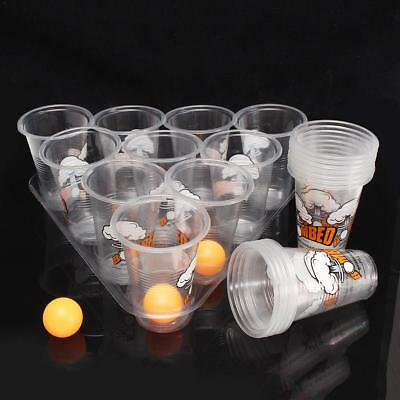 Beer Pong Party Fun Kit 20 Cups 3 Balls For Adult Freinds Table Top Board Games