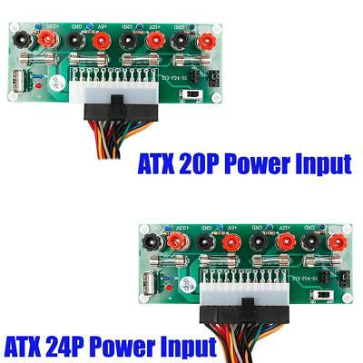20/24 Pins ATX Benchtop Computer PC Power Breakout Module Adapter w/ USB 5V Port