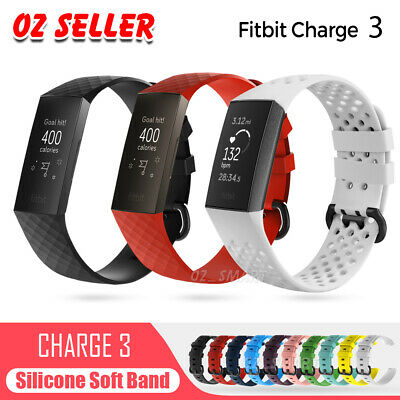 For Fitbit Charge 3 Replacement Silicone Watch Wrist Sports Band Strap Wristband