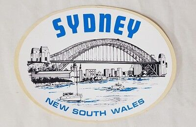 Early Sydney New South Wales Souvenir Sticker / Decal