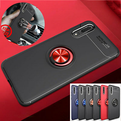 Slim Shockproof Rubber Ring Holder Case Cover for Xiaomi Redmi Note 6 Pro Skin