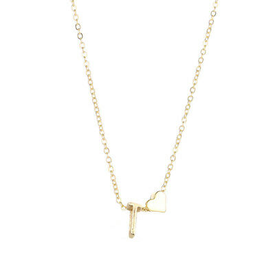 Letters Women Tiny Love Heart Choker Necklace Pendant Lovers Gifts