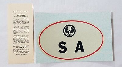 Early S.A. (South Australia) Reflective Advertising Emblem Sticker / Decal