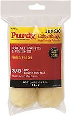 Purdy Golden Eagle Jumbo Mini Roller Replacements, 4-1/2 In., 3/8 In. Nap, 2 Pac