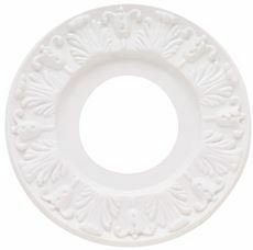 Westinghouse 10 In. Victorian Molded Plastic Ceiling Medallion, White Finish