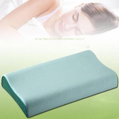 Gel Infused Memory Foam Contour Neck Back Head Support Pillow Washable Cover
