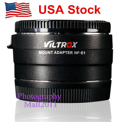 *US STOCK* Viltrox NF-E1 AF Lens Mount Adapter For Nikon F Lens To Sony A9 A7R3