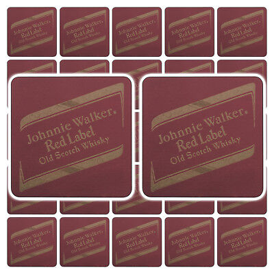 1 Johnnie Walker Red Label Scotch Whisky Beer Mats / Coasters / Beermats - RARE