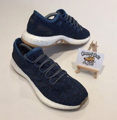 Men's Adidas Pure Boost Running Trainers UK 9 'Core Blue/Night Navy GYM FITNESS'