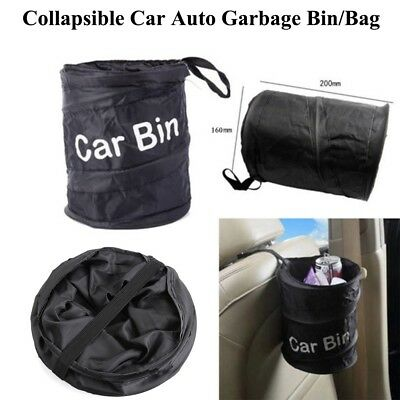 Collapsible Wastebasket Trash Bag Can Litter Container Car Garbage Bin Bag WT