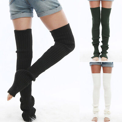 Women Winter Cable Knit Over Knee Long Boot Thigh-High Warm Yoga Socks Leggings