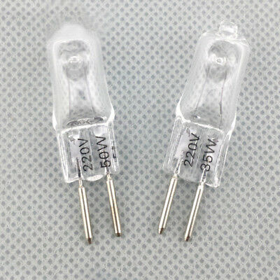 New 10pcs Warm Two 220v G5.3 35w/50w White Pin Yellow Light Bulb Halogen Lamp
