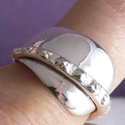 JAPA WRAP Size US 8.75 Ornate SILVERSARI Art Ring Solid 925 Sterling Silver