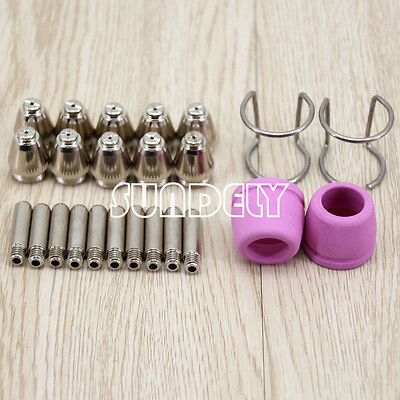 24pc Plasma Cutter Cutting Consumable Torch Electrode Tip for SG-55 AG-60 WSD-60