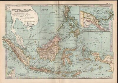 c1902 map of Malaysia & Indonesia by Adam and Charles Black