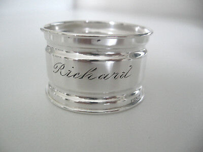 Sterling silver napkin ring engraved RICHARD