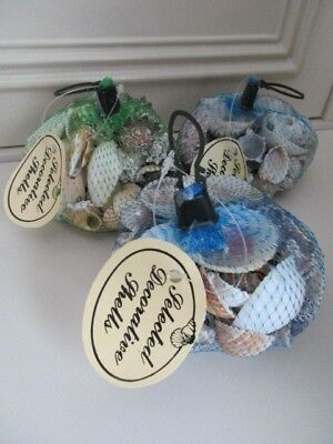 3 NET BAGs OF ASSORTED  SEA SHELLS (approx 1.25kg) Craft,Display,BathroomEtc