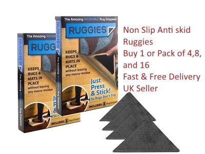 Brand New Carpet Mat Non Slip Anti Skid Ruggies Grippers Reusable Washable Uk
