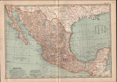 c1902 map of Mexico Adam and Charles Black