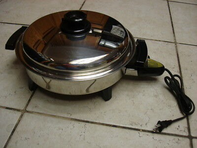 Kitchen Craft Electric Skillet Liquid Oil Core Fry Pan Mint Condition
